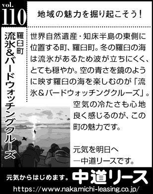 北海道 地域の魅力110 流氷&バードウォッチングクルーズ